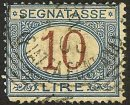 ITALY Stamp 10L POSTAGE DUE 1870 #J19 Used