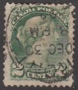 CANADA Stamp 2c QUEEN VICTORIA 1870 #A15 Green Used