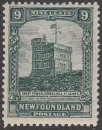 CANADA Stamp NEWFOUNDLAND CABOT TOWER 9c 1928 #91 Unused