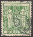 NEW ZEALAND Stamp 5sh COAT OF ARMS 1931-39 #AR50 Used