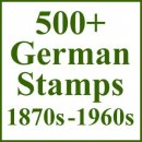 570 Old Stamps from Germany 1870s - 1960s
