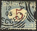 ITALY Stamp 5L POSTAGE DUE 1870 #J18 Used